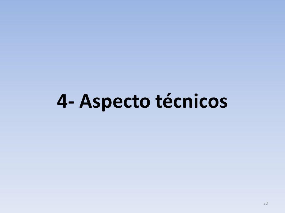 4- Aspecto técnicos 20