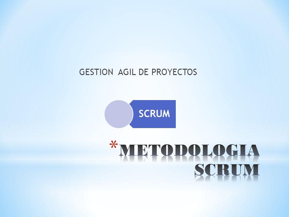 * SCRUM es una metodología ágil de gestión de proyectos cuyo objetivo primordial es elevar al máximo la productividad de un equipo.