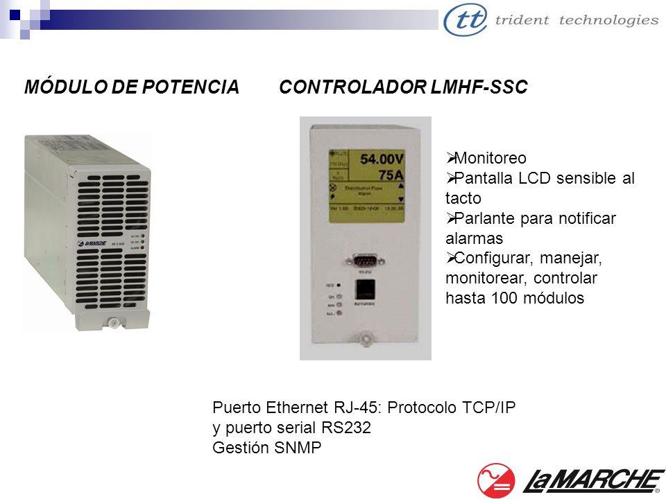 MÓDULO DE POTENCIACONTROLADOR LMHF-SSC Monitoreo Pantalla LCD sensible al tacto Parlante para notificar alarmas Configurar, manejar, monitorear, contr