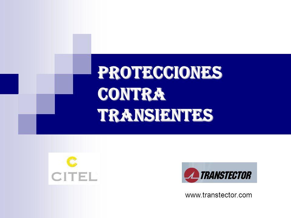 PROTECCIONES CONTRA TRANSIENTES www.transtector.com