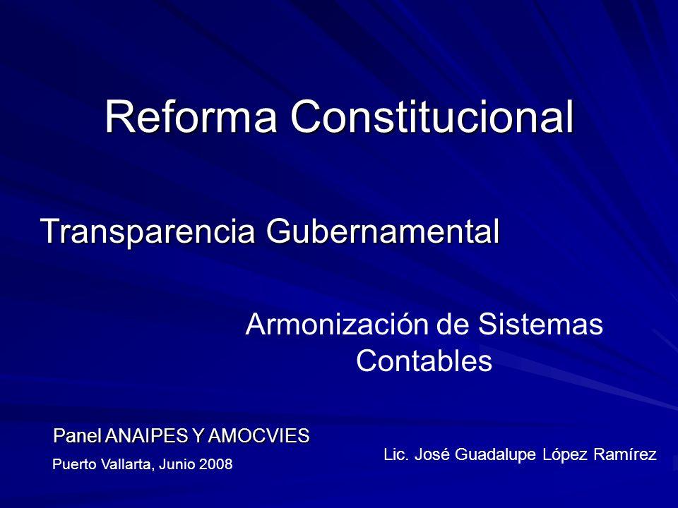 Reforma Constitucional Transparencia Gubernamental Lic.