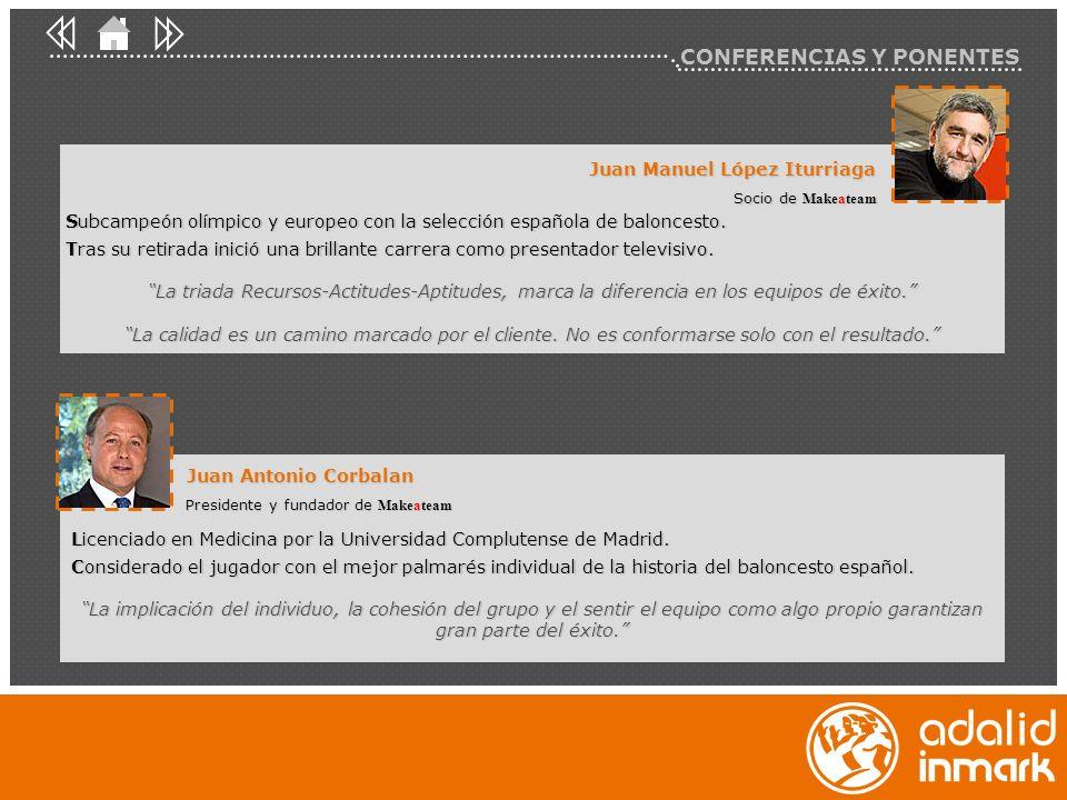 Juan Manuel López Iturriaga Socio de Makeateam Juan Antonio Corbalan Presidente y fundador de Makeateam Licenciado en Medicina por la Universidad Comp