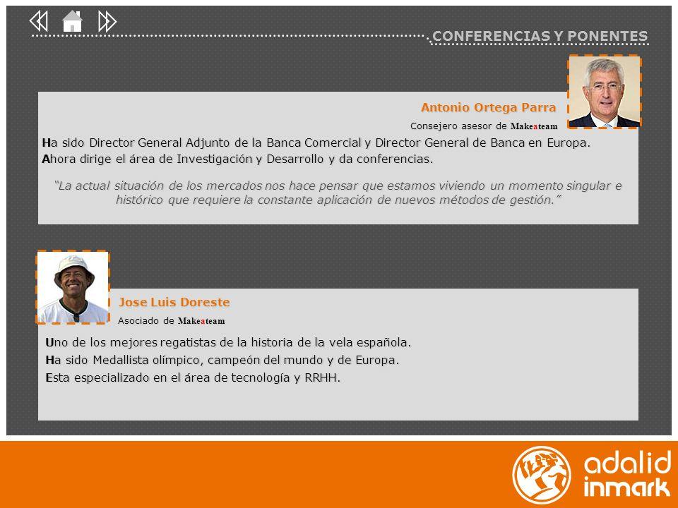 Antonio Ortega Parra Consejero asesor de Makeateam Jose Luis Doreste Asociado de Makeateam Uno de los mejores regatistas de la historia de la vela esp