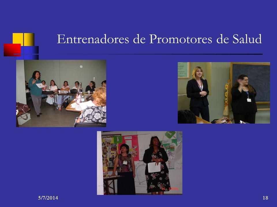 5/7/201418 Entrenadores de Promotores de Salud