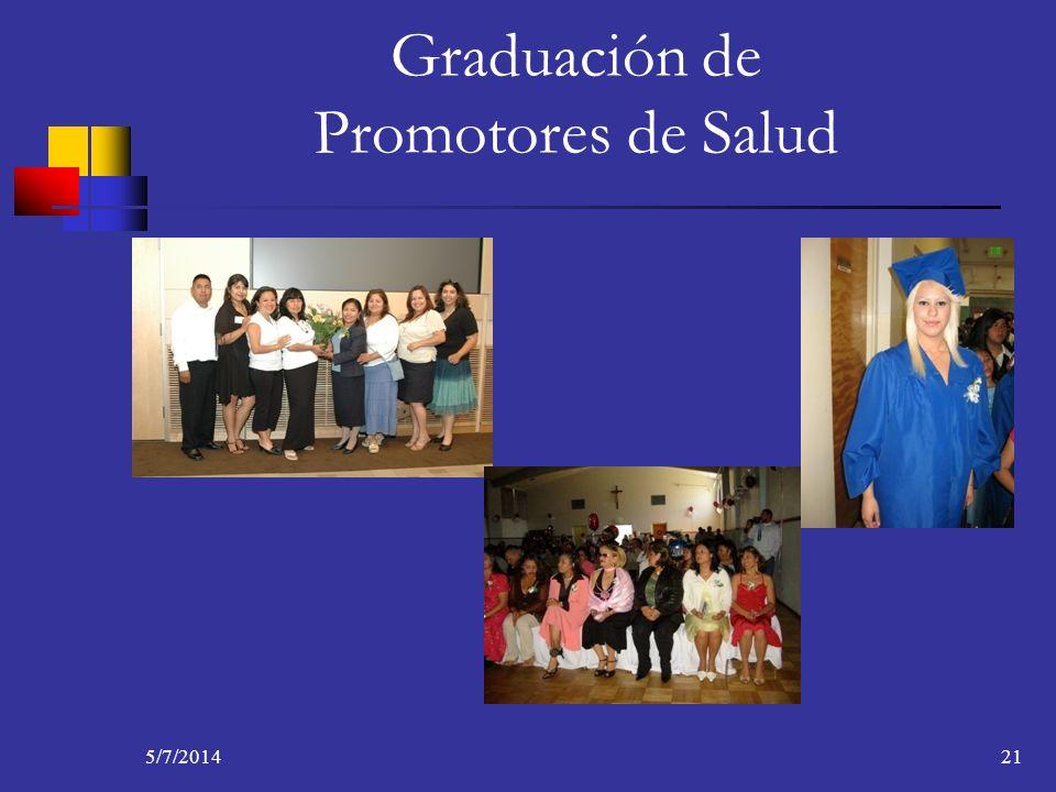 5/7/201421 Graduación de Promotores de Salud