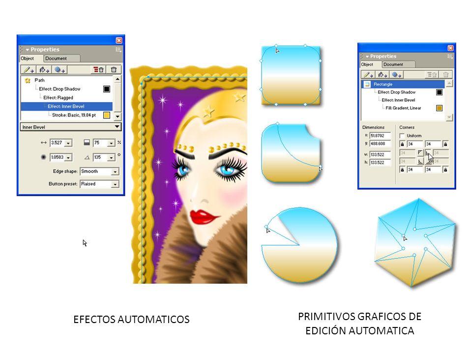 PRIMITIVOS GRAFICOS DE EDICIÓN AUTOMATICA EFECTOS AUTOMATICOS