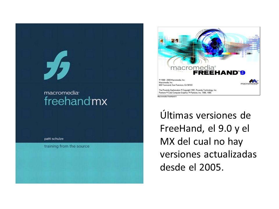 Multi-página, de un FreeHand Aldus 2.0 y de la última versión de Macromedia FreeHand MX.