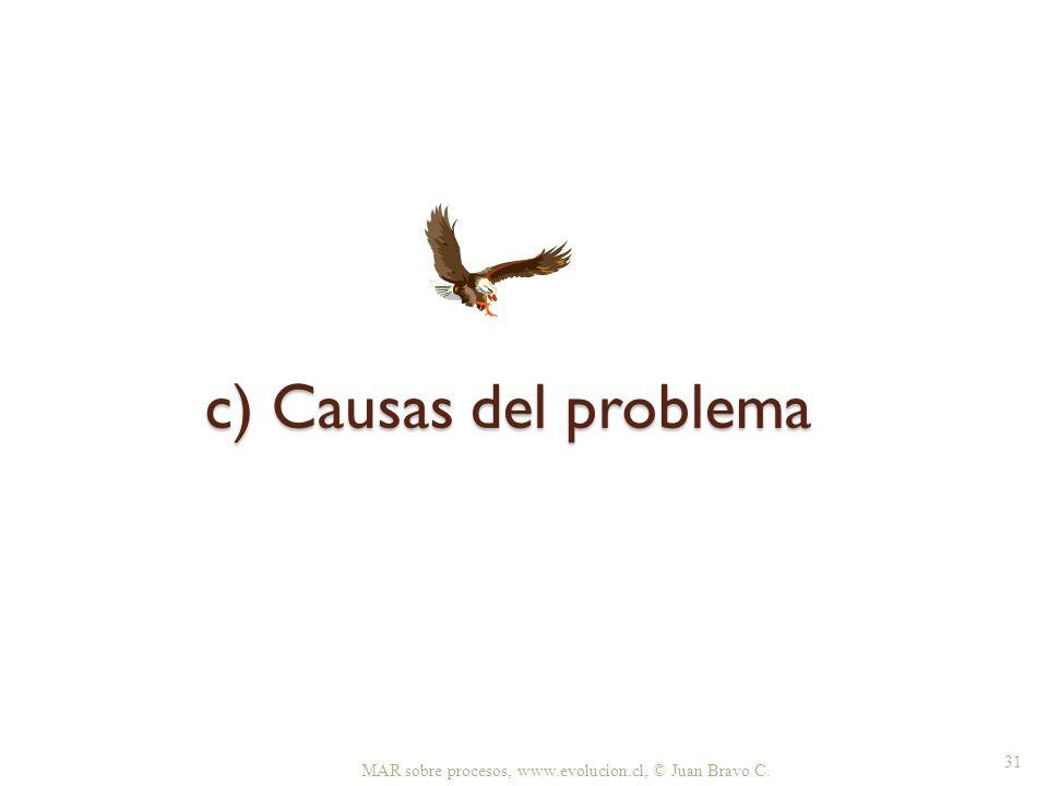 c) Causas del problema MAR sobre procesos, www.evolucion.cl, © Juan Bravo C. 31
