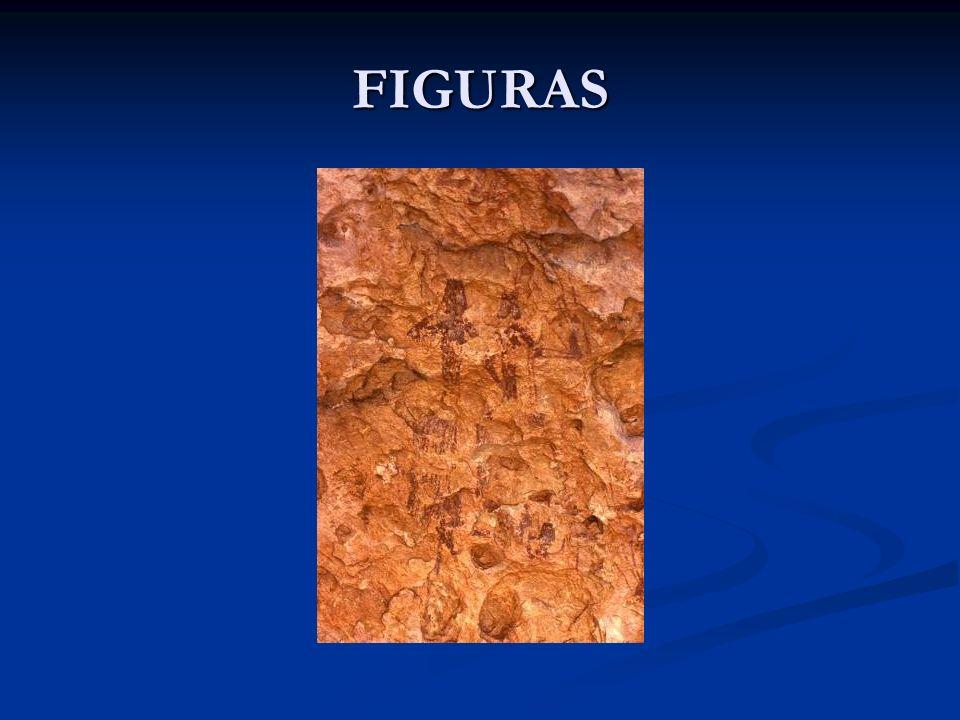 FIGURAS Hay figuras que no sabemos exactamente que significan formando parte de las primeras manifestaciones del arte abstracto.