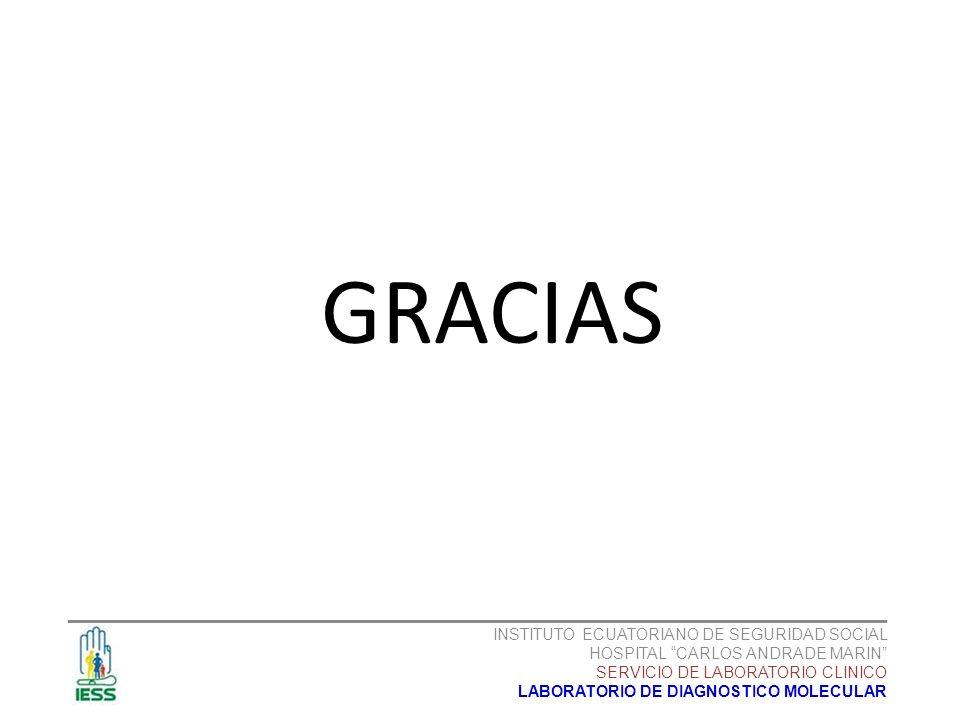 GRACIAS _______________________________________________________ INSTITUTO ECUATORIANO DE SEGURIDAD SOCIAL HOSPITAL CARLOS ANDRADE MARIN SERVICIO DE LA