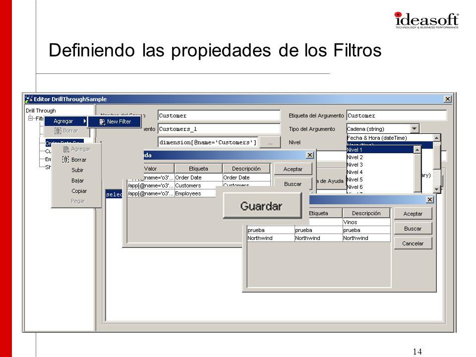 14 Definiendo las propiedades de los Filtros