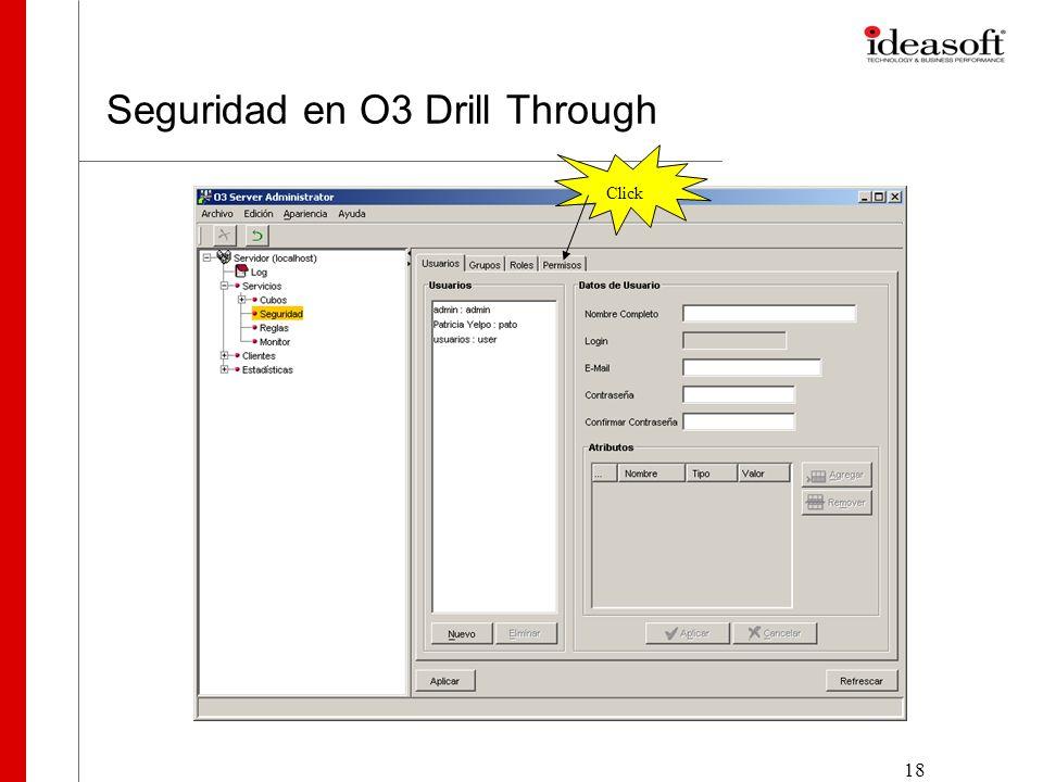 19 Seguridad en O3 Drill Through Click