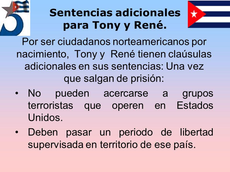Sentencias adicionales para Tony y René.