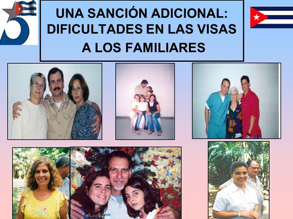 UNA SANCIÓN ADICIONAL: DIFICULTADES EN LAS VISAS A LOS FAMILIARES