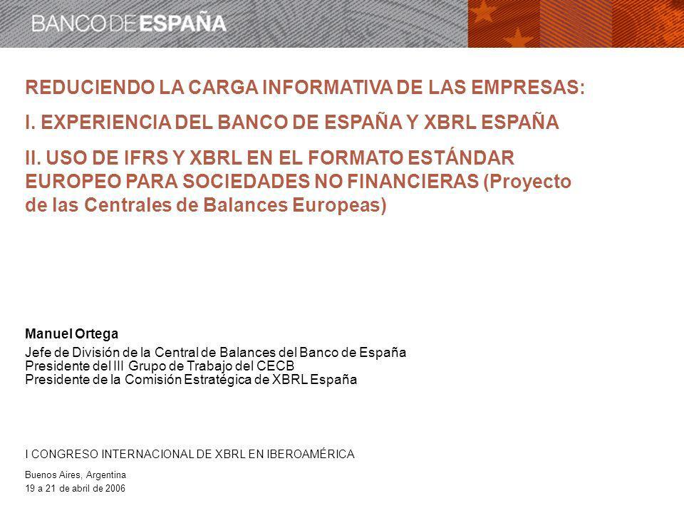 REDUCIENDO LA CARGA INFORMATIVA DE LAS EMPRESAS: I.
