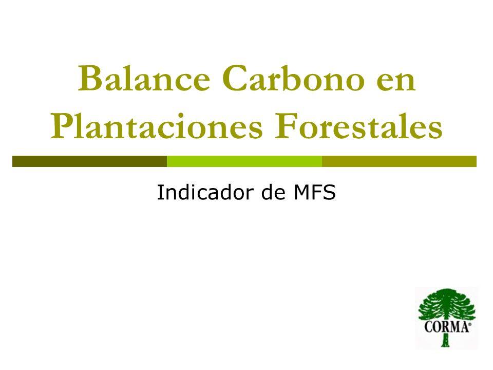 Balance Carbono en Plantaciones Forestales Indicador de MFS