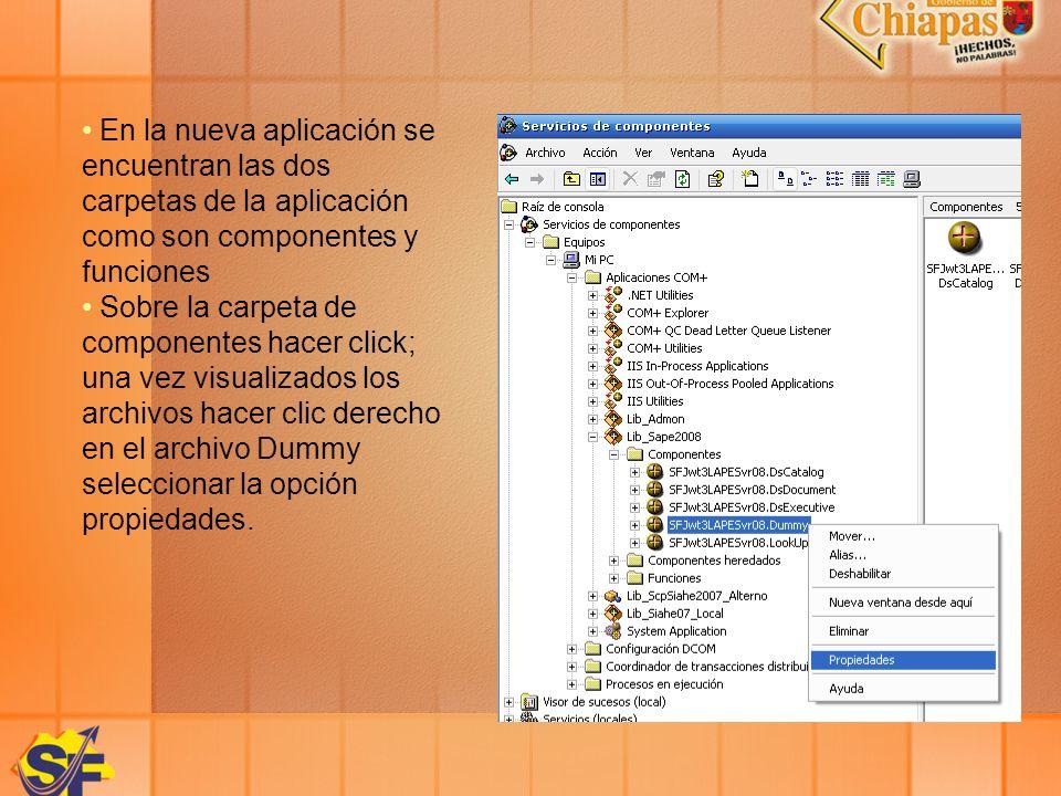 En la nueva aplicación se encuentran las dos carpetas de la aplicación como son componentes y funciones Sobre la carpeta de componentes hacer click; u