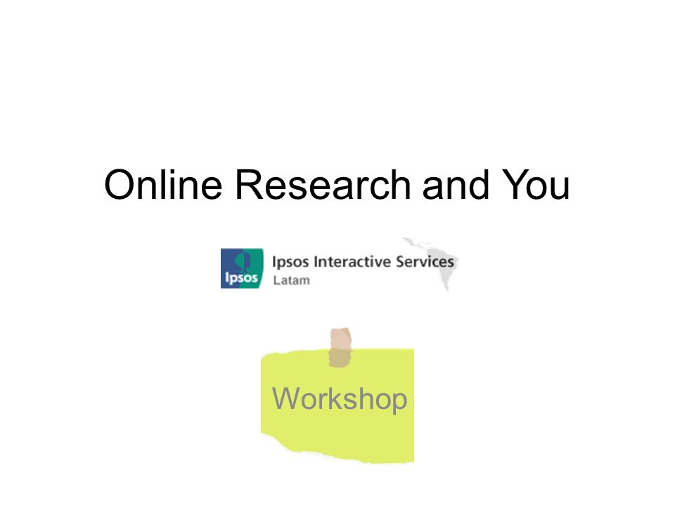 Online Research and You Workshop
