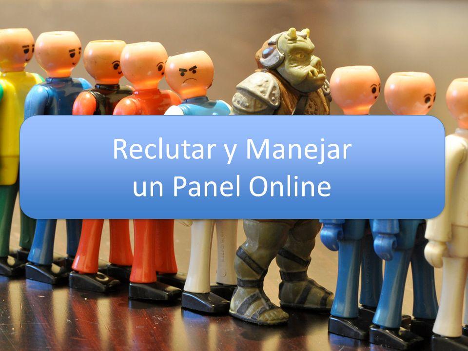 Reclutar y Manejar un Panel Online Reclutar y Manejar un Panel Online