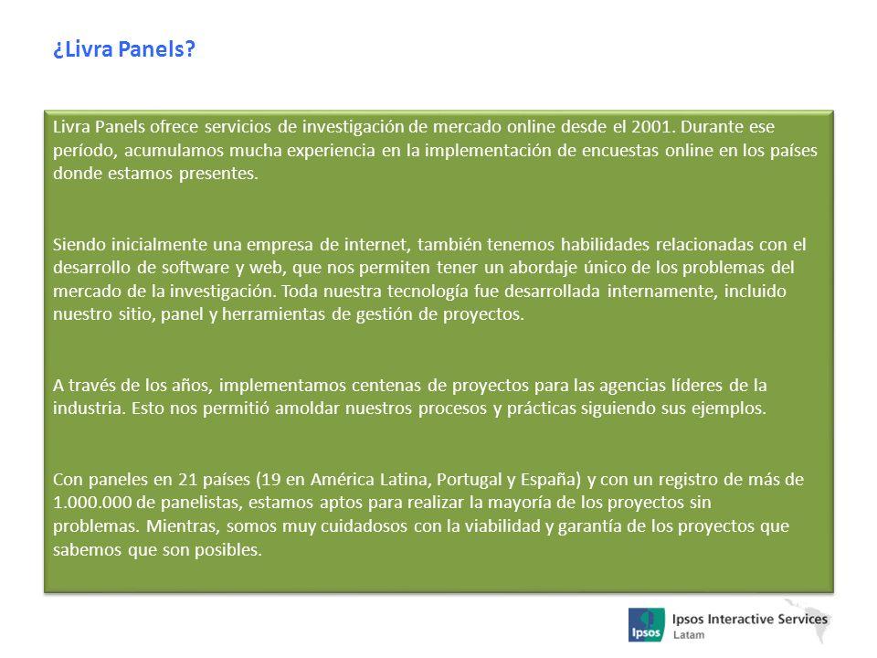 Livra Panels ofrece servicios de investigación de mercado online desde el 2001. Durante ese período, acumulamos mucha experiencia en la implementación