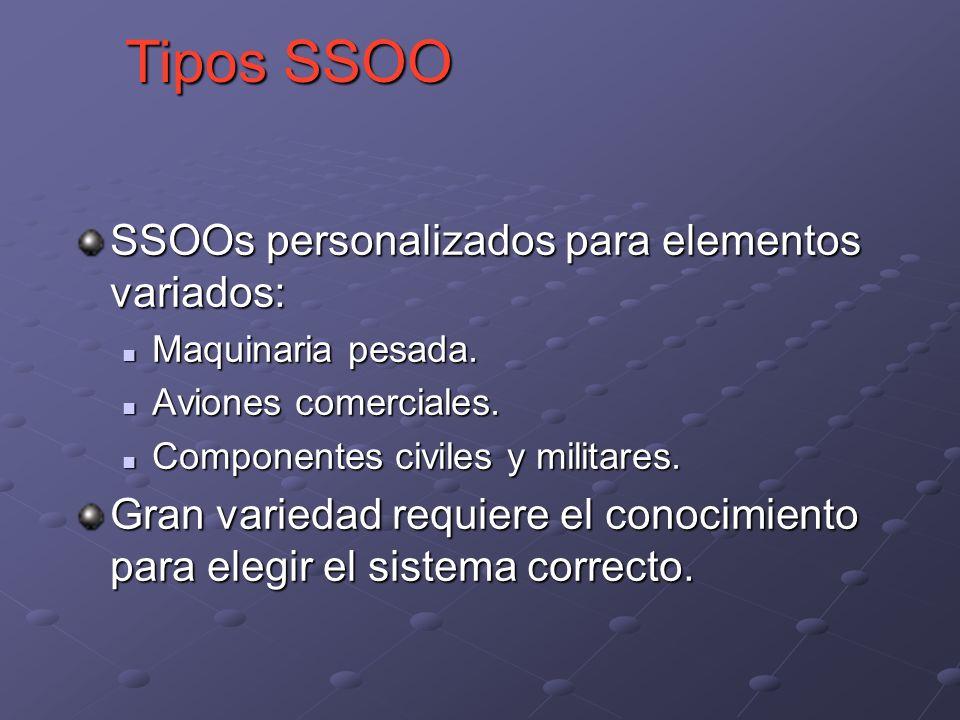 SSOOs personalizados para elementos variados: Maquinaria pesada.