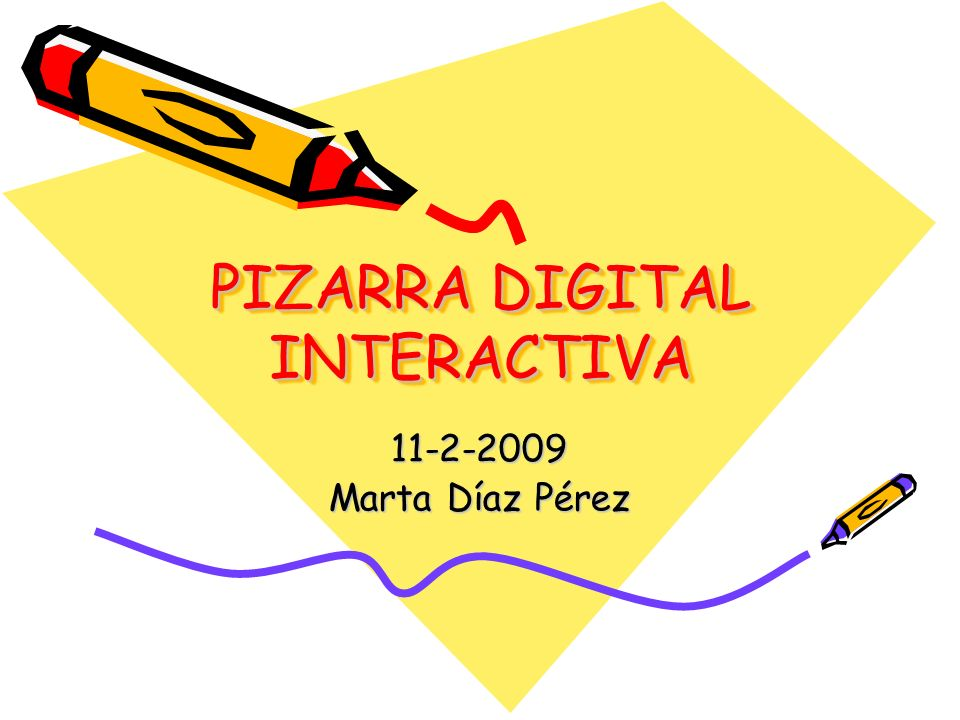 PIZARRA DIGITAL INTERACTIVA 11-2-2009 Marta Díaz Pérez