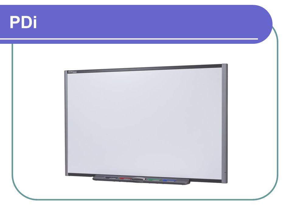 Elementos que integran la pizarra interactiva: 4.Pantalla interactiva 5.