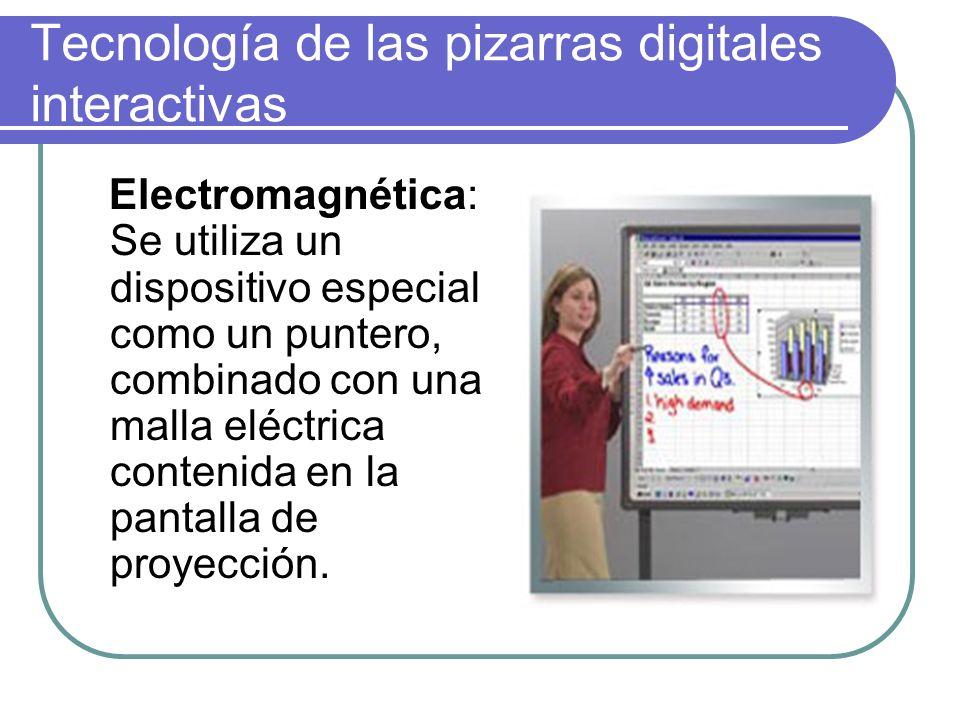 Tecnología de las pizarras digitales interactivas Infrarroja:El marcador emite una señal infrarroja pura al entrar en contacto con la superficie.
