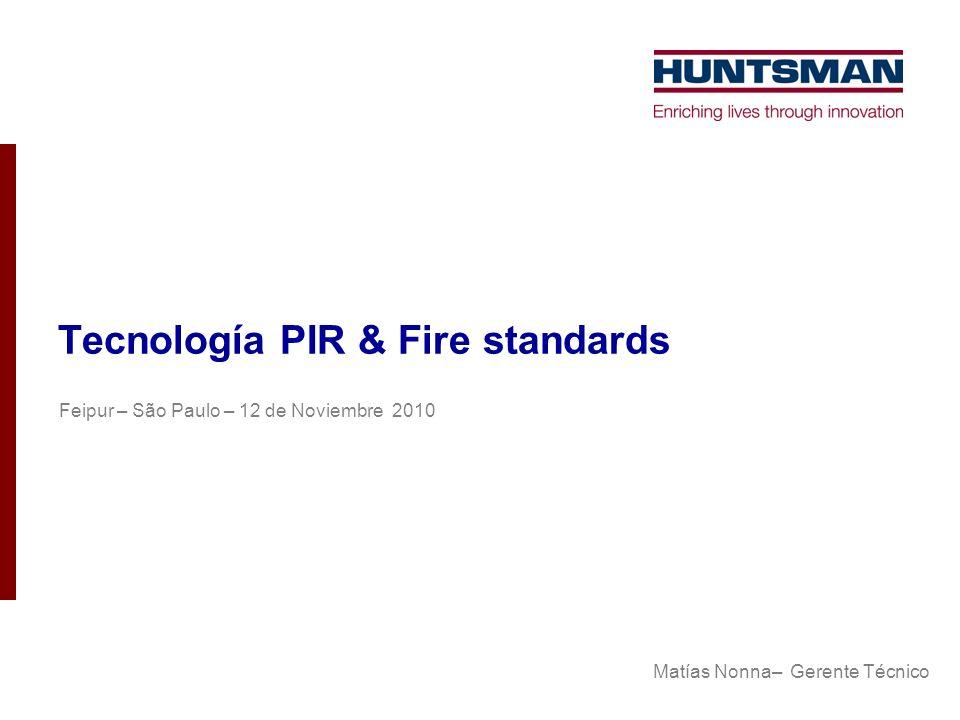 Tecnología PIR & Fire standards Feipur – São Paulo – 12 de Noviembre 2010 Matías Nonna– Gerente Técnico