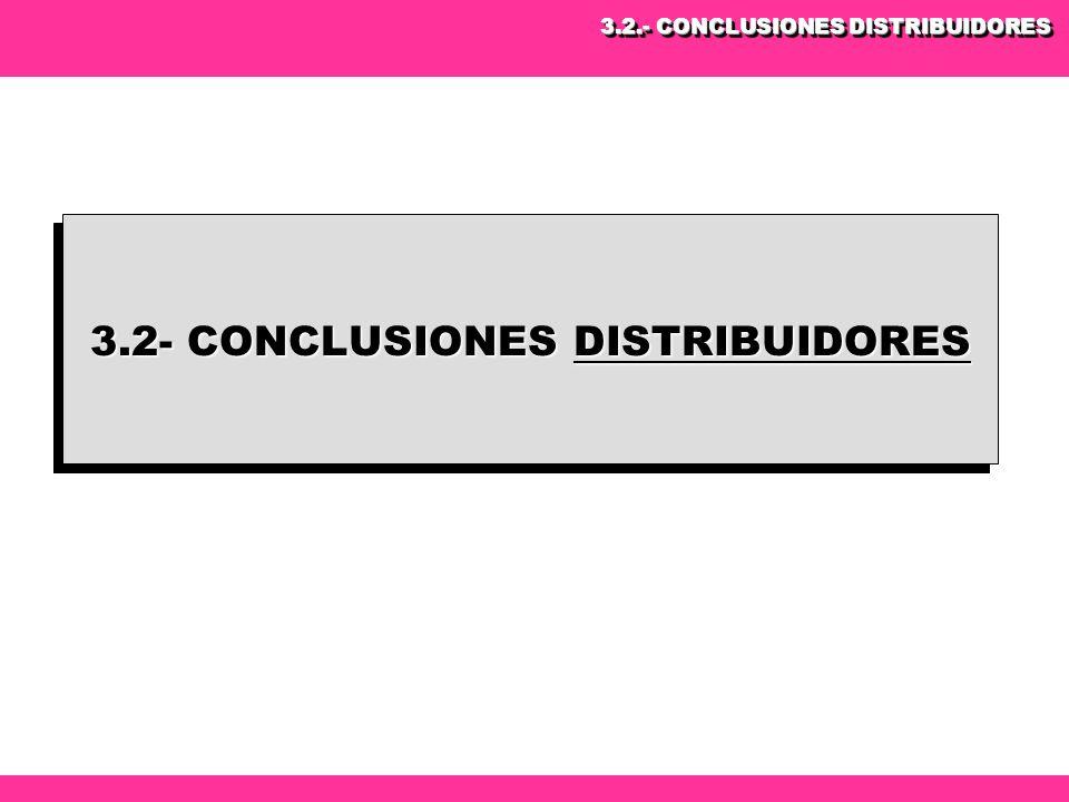 3.2- CONCLUSIONES DISTRIBUIDORES 3.2.- CONCLUSIONES DISTRIBUIDORES