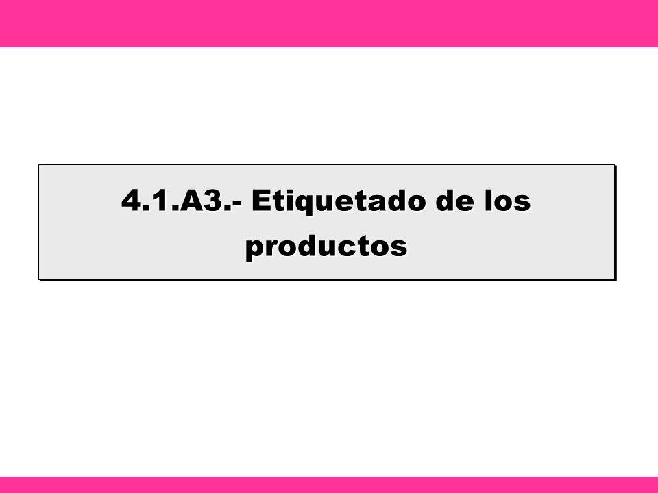 4.1.A3.- Etiquetado de los productos