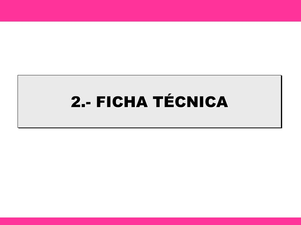 2.- FICHA TÉCNICA