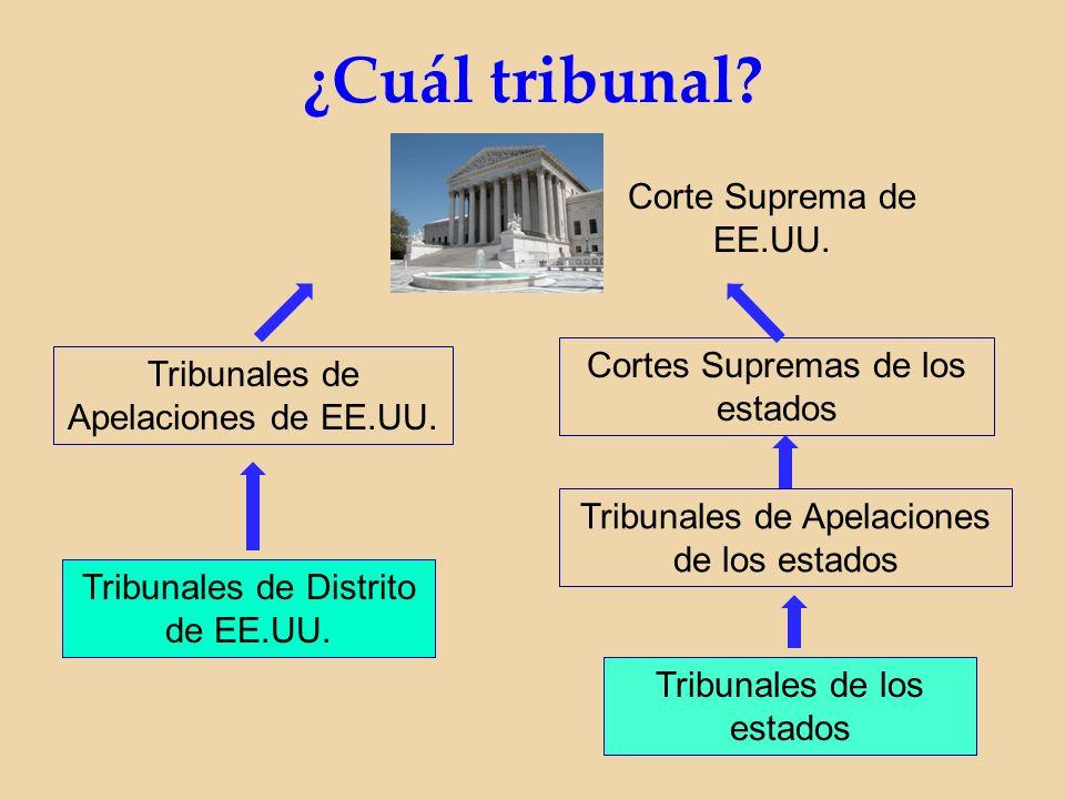 ¿Cuál tribunal. Corte Suprema de EE.UU.