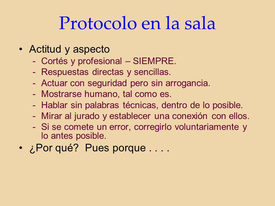 Protocolo en la sala Actitud y aspecto -Cortés y profesional – SIEMPRE.