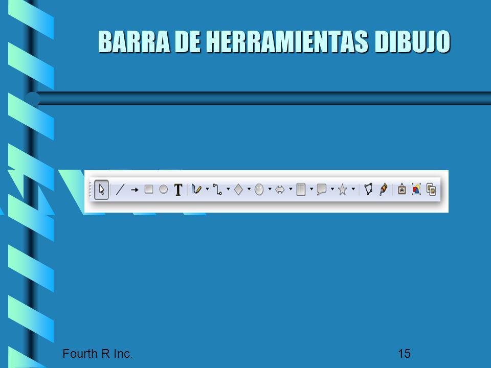 Fourth R Inc. 15 BARRA DE HERRAMIENTAS DIBUJO