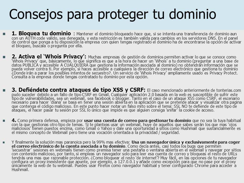 Consejos para proteger tu dominio 1.