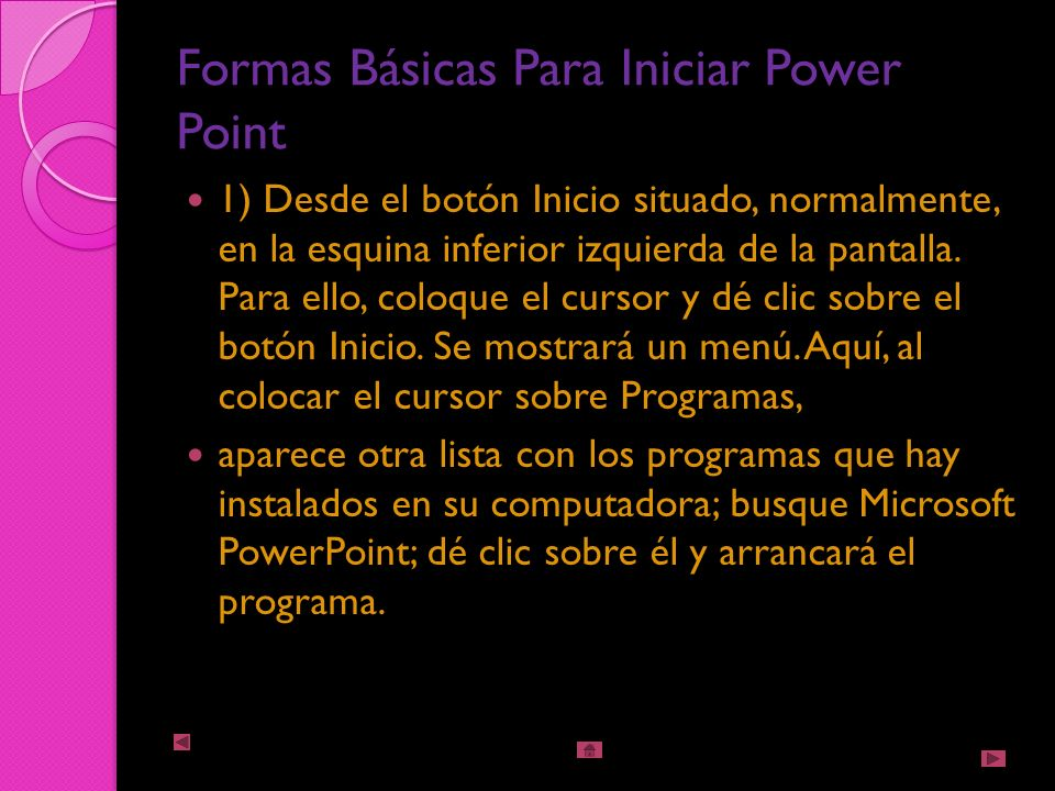 Iniciar Power Point