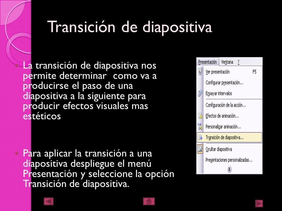 Ocultar diapositivas la opción ocultar diapositivas se puede ocupar para reducir una presentación por problemas de tiempo, pero sin que perdamos las d
