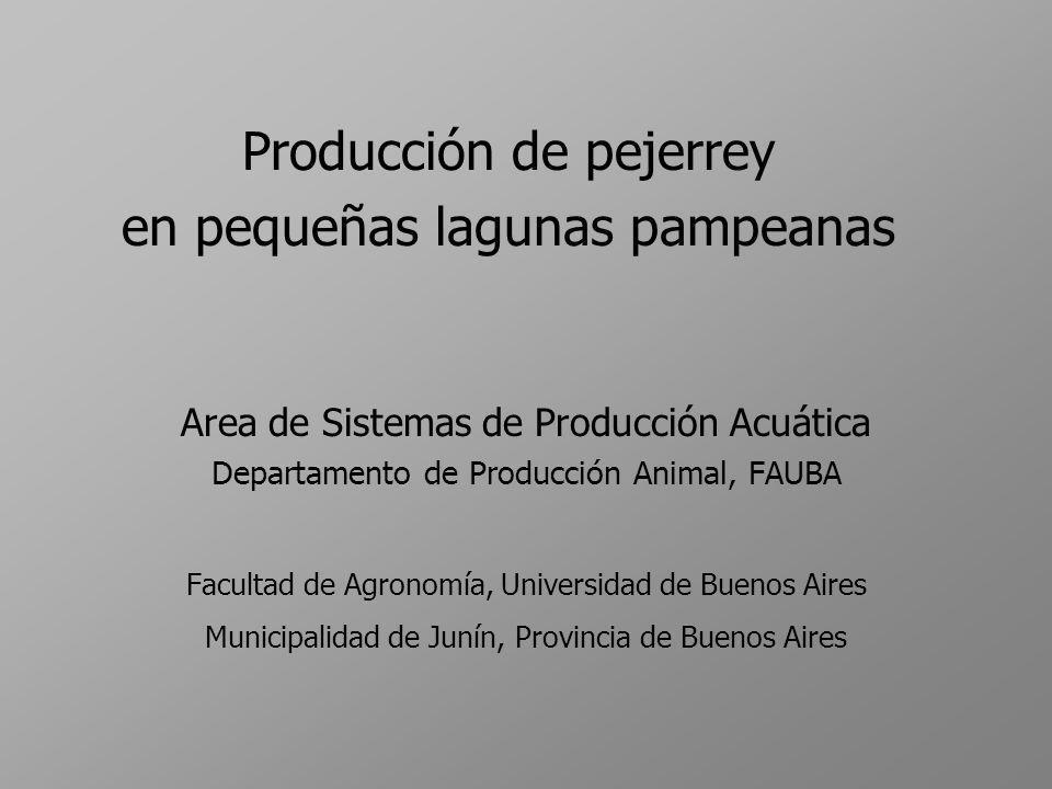 Producción de pejerrey en pequeñas lagunas pampeanas Area de Sistemas de Producción Acuática Departamento de Producción Animal, FAUBA Facultad de Agro