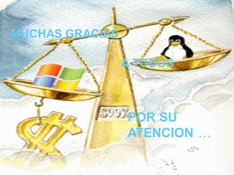 MUCHAS GRACIAS POR SU ATENCION … A TODOS