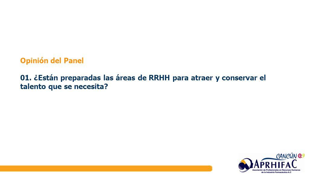 Opinión del Panel 01. ¿Están preparadas las áreas de RRHH para atraer y conservar el talento que se necesita?