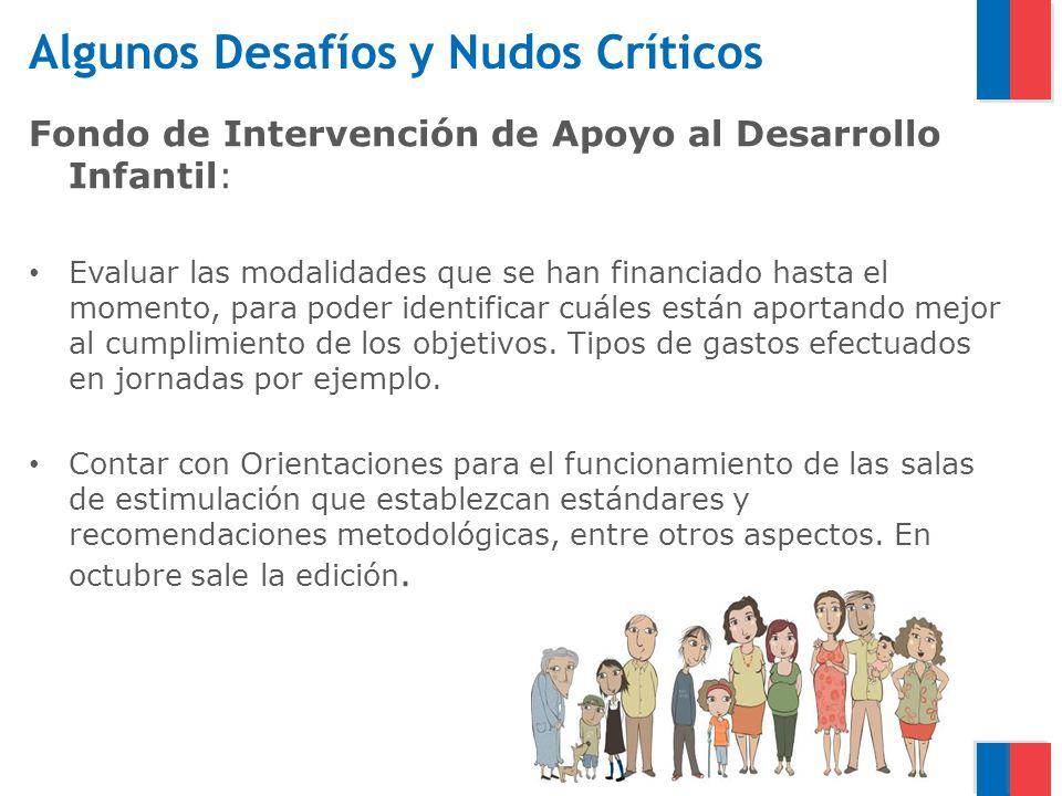 Algunos Desafíos y Nudos Críticos Fondo de Intervención de Apoyo al Desarrollo Infantil: Evaluar las modalidades que se han financiado hasta el moment
