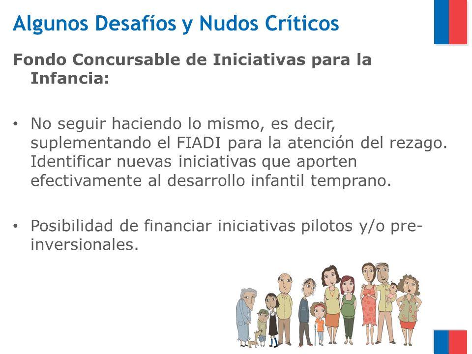 Algunos Desafíos y Nudos Críticos Fondo Concursable de Iniciativas para la Infancia: No seguir haciendo lo mismo, es decir, suplementando el FIADI par
