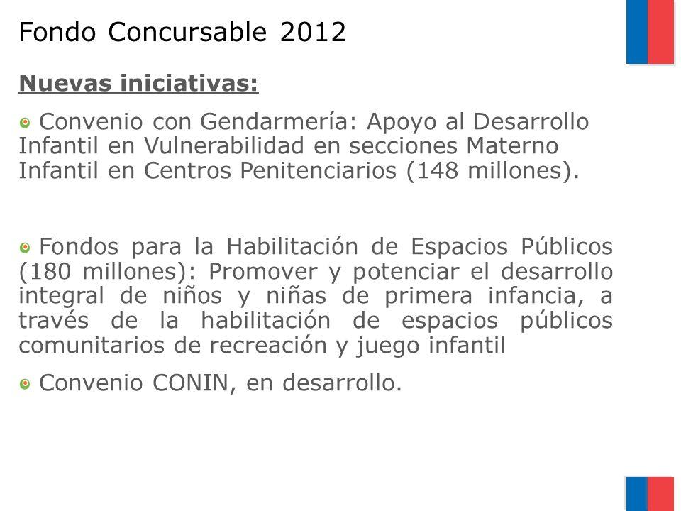 Fondo Concursable 2012 Nuevas iniciativas: Convenio con Gendarmería: Apoyo al Desarrollo Infantil en Vulnerabilidad en secciones Materno Infantil en C