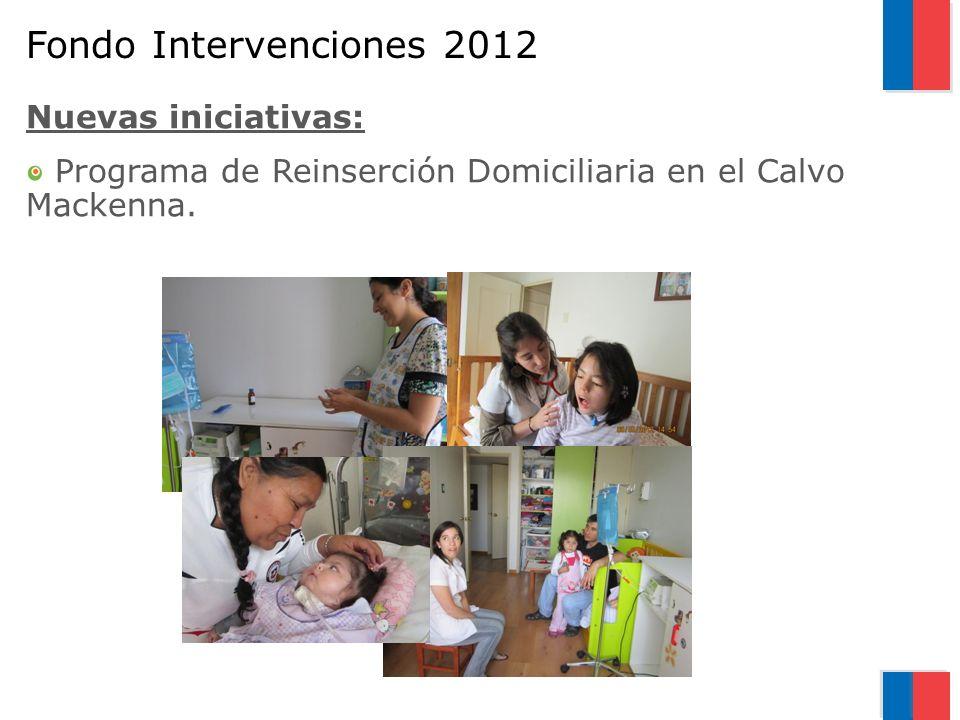 Fondo Intervenciones 2012 Nuevas iniciativas: Programa de Reinserción Domiciliaria en el Calvo Mackenna.
