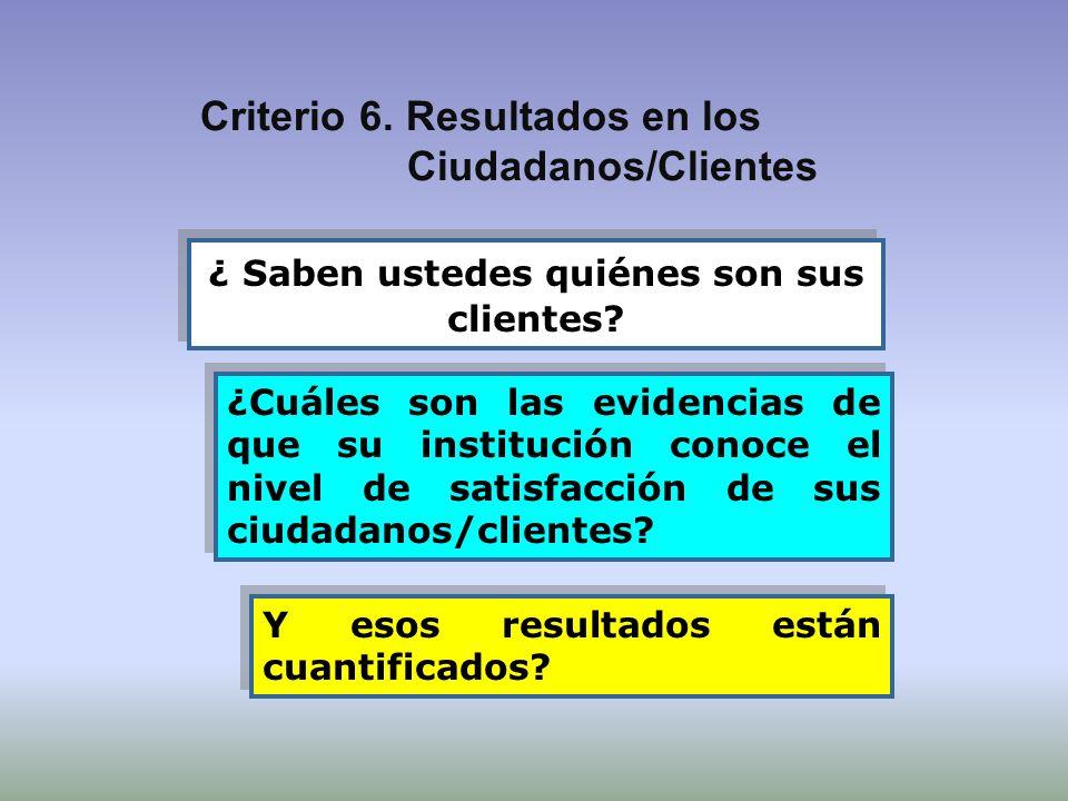 ¿ Saben ustedes quiénes son sus clientes? ¿Cuáles son las evidencias de que su institución conoce el nivel de satisfacción de sus ciudadanos/clientes?