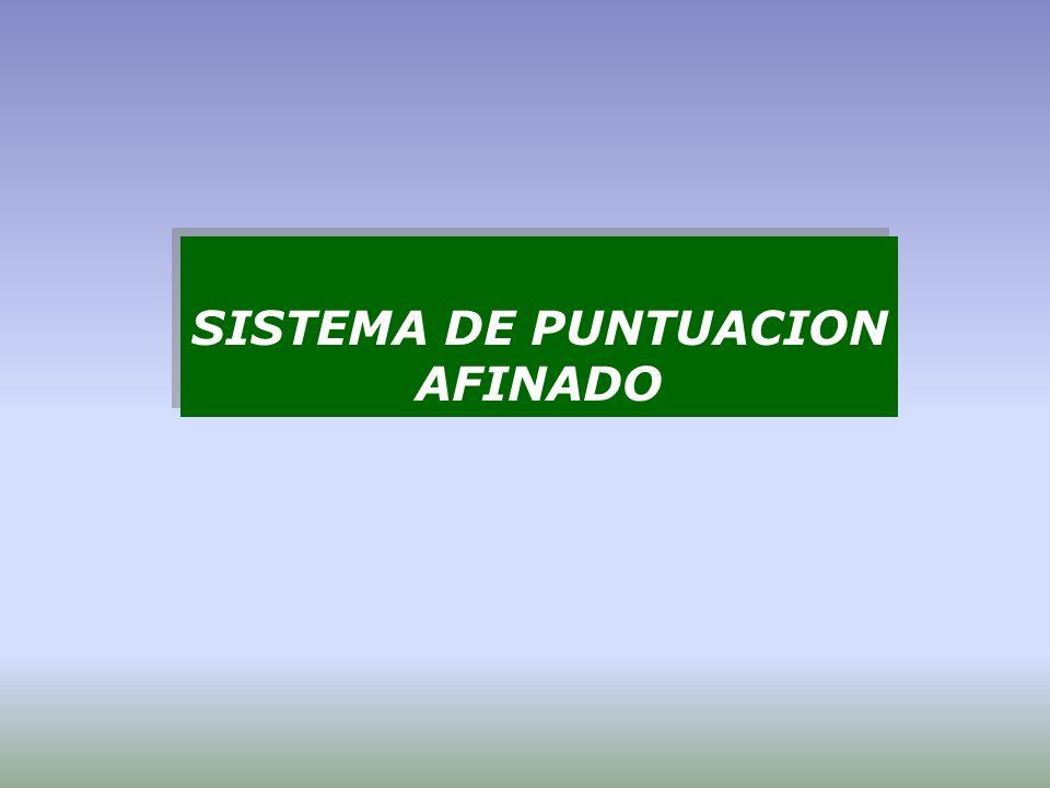 SISTEMA DE PUNTUACION AFINADO