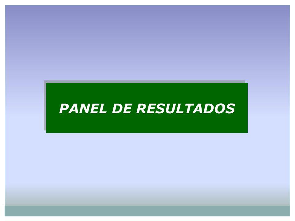 PANEL DE RESULTADOS PANEL DE RESULTADOS