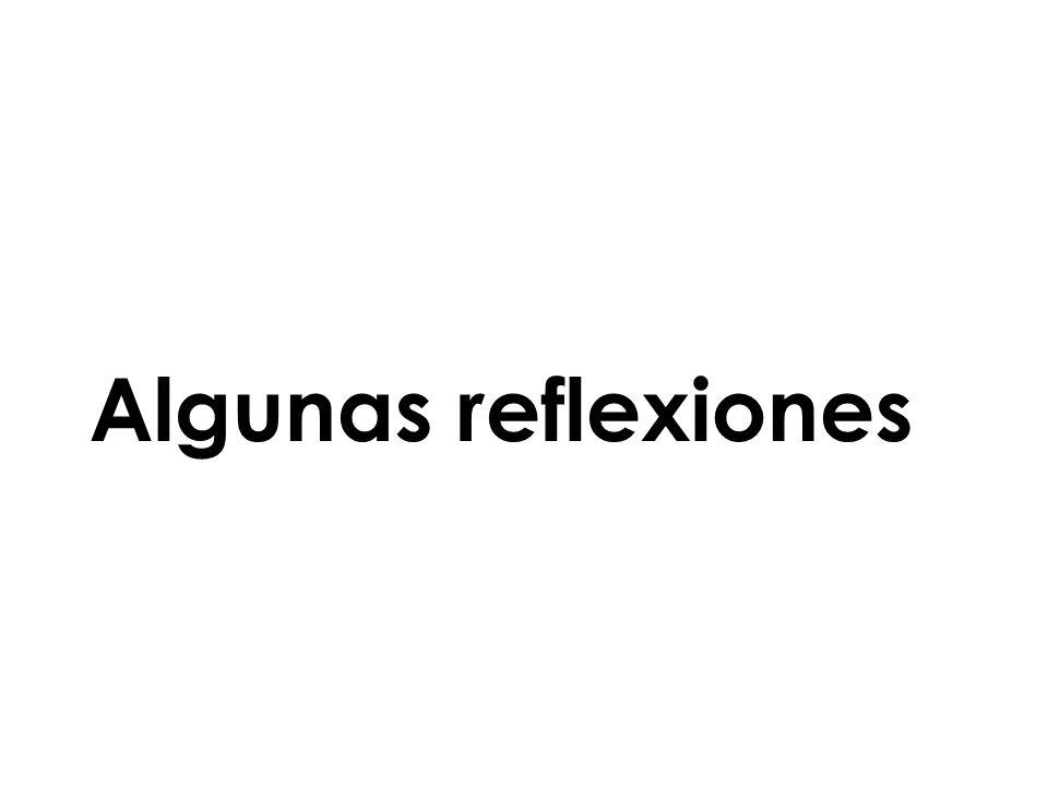 Algunas reflexiones