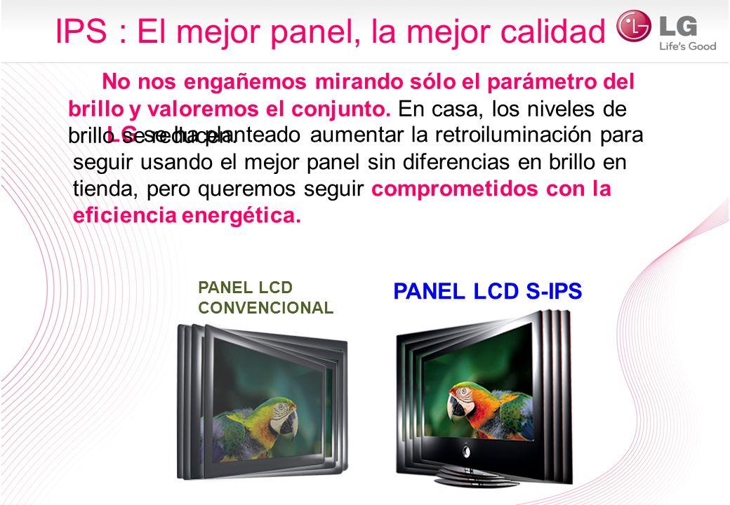 LG se ha planteado aumentar la retroiluminación para seguir usando el mejor panel sin diferencias en brillo en tienda, pero queremos seguir comprometi